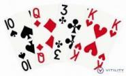 Spielkarten, große Symbole