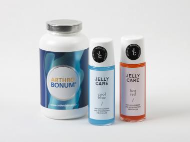 Arthrobonum Kapseln 240 Stück inkl. Jelly Care Kombipaket (cool blue und hot red)