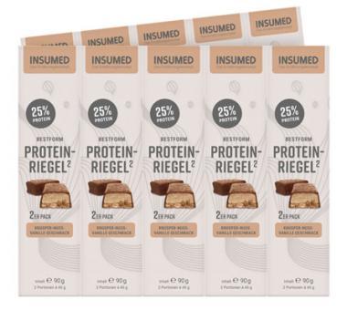 INSUMED BESTFORM Protein-Riegel, 10x2 Riegel, Knusper-Nuss-Vanille, 900g