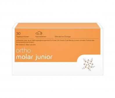 Orthomolar junior Kautabletten Mandarine/Orange, 30 Tagesportionen