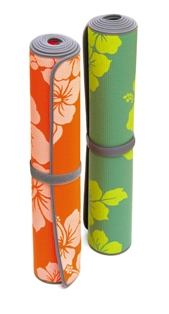 "SISSEL® Yoga Matte ""Flower"" grün 180 x 60 x 0,4 cm"