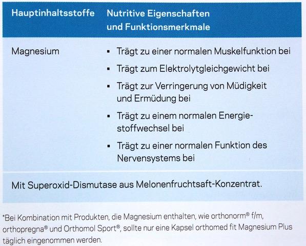 Magnesium plus Eigenschaften