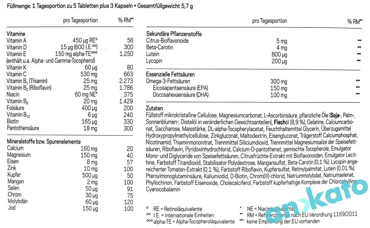 Orthonorm f Tabletten Inhaltsstoffe